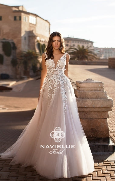 Dolly Collection 'Jessica' Naviblue Bridal RTW 18017-456 Ready To Wear European Bridal Wedding Gown Designer Philippines