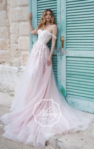 Blunny Collection 'Bailey' Naviblue Bridal RTW 18290-430 Ready To Wear European Bridal Wedding Gown Designer Philippines