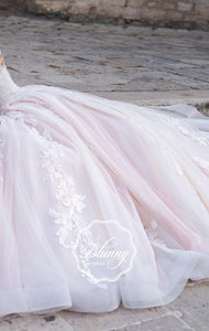 Blunny Collection 'Ballencia' Naviblue Bridal RTW 18292-410 Ready To Wear European Bridal Wedding Gown Designer Philippines