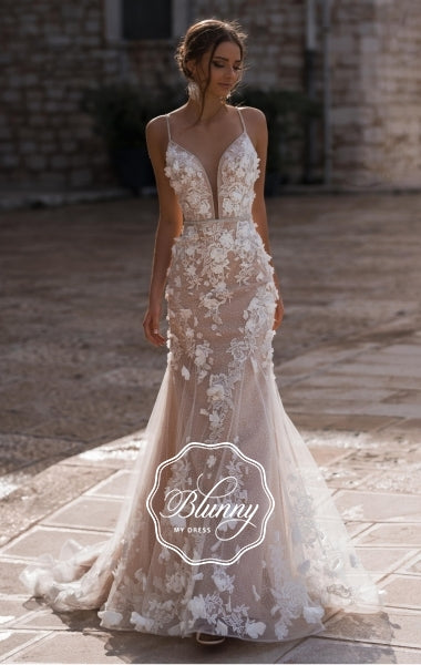 Blunny Collection 'Barcelona' Naviblue Bridal RTW 18293-430 Ready To Wear European Bridal Wedding Gown Designer Philippines