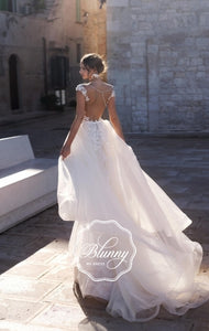 Blunny Collection 'Beatrice' Naviblue Bridal RTW 18309-450 Ready To Wear European Bridal Wedding Gown Designer Philippines