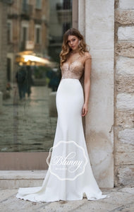 Blunny Collection 'Bianca' Naviblue Bridal RTW 19004-300 Ready To Wear European Bridal Wedding Gown Designer Philippines