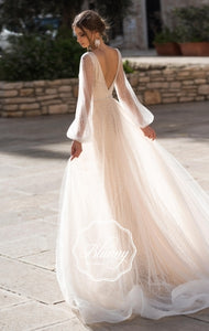 Blunny Collection 'Blair' Naviblue Bridal RTW 19005-300 Ready To Wear European Bridal Wedding Gown Designer Philippines