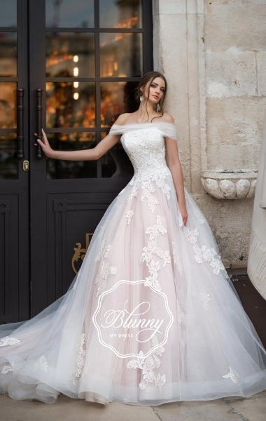 Blunny Collection 'Bonnie' Naviblue Bridal RTW 20013-450 Ready To Wear European Bridal Wedding Gown Designer Philippines