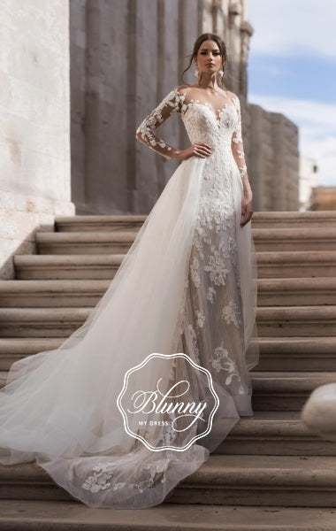 Blunny Collection 'Brenda' Naviblue Bridal RTW 20024-520 Ready To Wear European Bridal Wedding Gown Designer Philippines