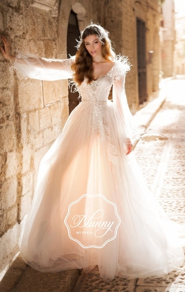 Blunny Collection 'Brianna' Naviblue Bridal RTW 20026-450 Ready To Wear European Bridal Wedding Gown Designer Philippines