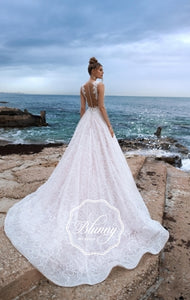 Blunny Collection 'Bridget' Naviblue Bridal RTW 20027-550 Ready To Wear European Bridal Wedding Gown Designer Philippines