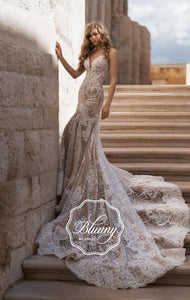 Blunny Collection 'Brittany' Naviblue Bridal RTW 9864-420 Ready To Wear European Bridal Wedding Gown Designer Philippines