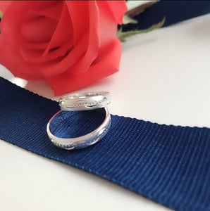 Couple Ring WR26  92.5 Italy silver