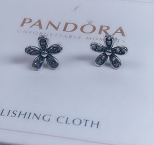 Flower Earrings Pandora  92.5 Italy silver