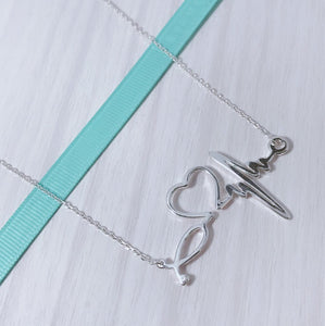 Heart Beat Necklace   92.5 Italy silver
