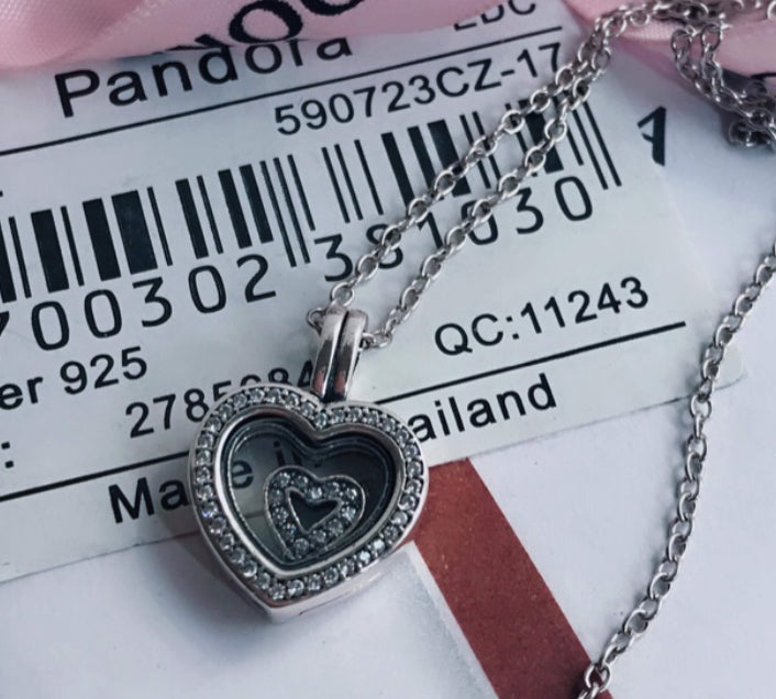 Heart Locket Pandora 92.5 Italy silver