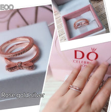 Load image into Gallery viewer, Rose Gold Ring Pandora  92.5 Italy silver