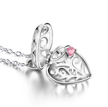 Load image into Gallery viewer, Pandora Locket Design Deart Pendant with Necklace 92.5 Italy silver