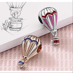 Hot air balloon Pandora charm 92.5 Italy silver