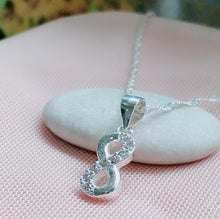 Load image into Gallery viewer, Infinite Necklace  92.5 Italy Silver