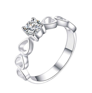R143 Ladies Ring 92.5 Italy silver