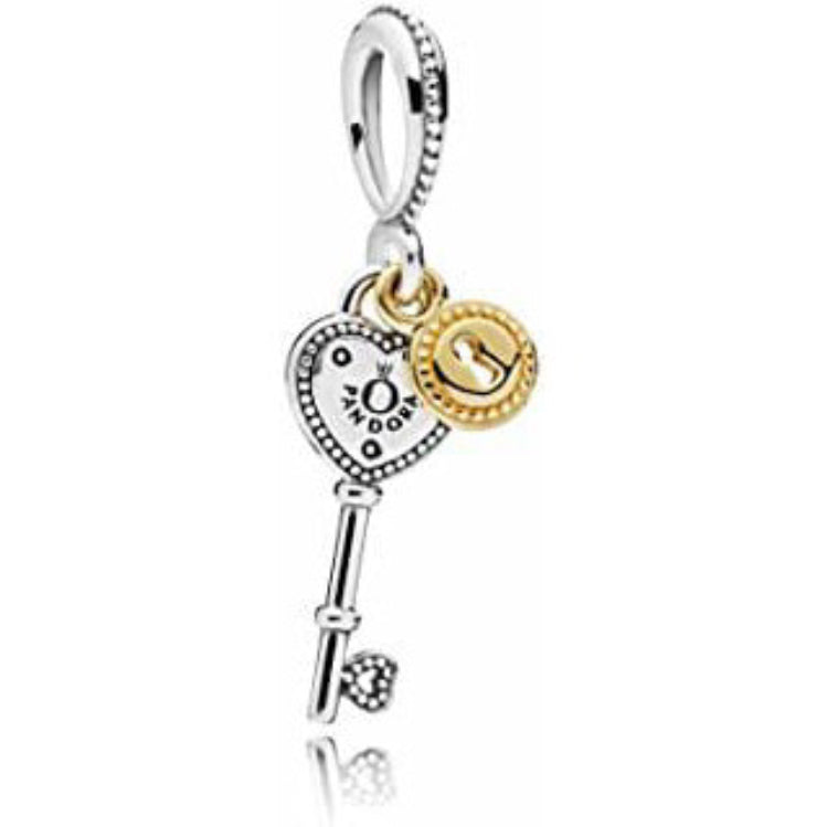 Key of love Pandora charm 92.5 Italy silver