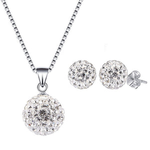 Pandora Set Necklace with Earrings SWA39 92.5 Italy silver
