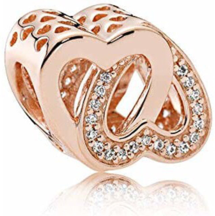 Rose Gold Pandora charm 92.5 Italy silver