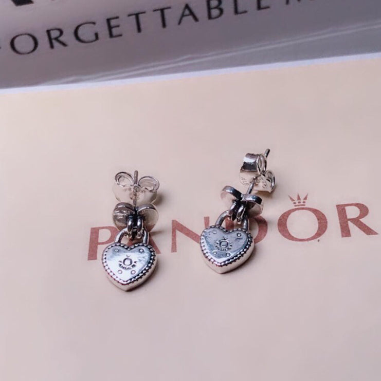 Heart Earrings Pandora  92.5 Italy silver