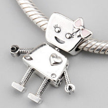 Load image into Gallery viewer, Robot Pandora charm 92.5 Italy silver