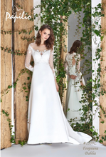 Load image into Gallery viewer, Papilio Bridal Wedding Dress SALE Collection RTW 1809-120 (Size 38)