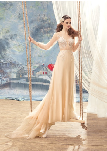 Papilio Bridal Wedding Dress SALE Collection RTW 1740L-86 (Nude Size 36 and Cream Size 38)
