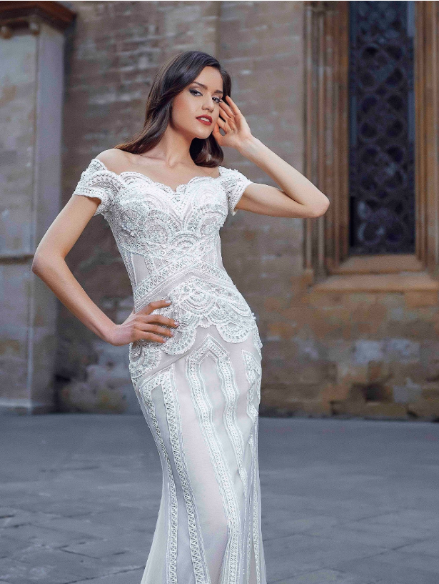 Alma De Valencia 'Blanca' Innocentia RTW INLI 2006-780 Ready To Wear European Bridal Wedding Gown Designer Philippines