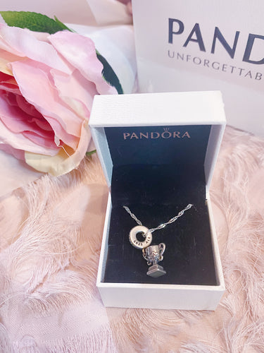Trophy Mom Pandora Necklace Charm Set Italy Silver 925