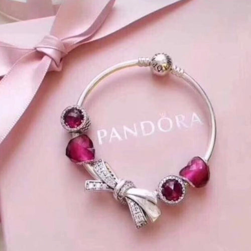 Red Ribbon Pandora 92.5 Italy silver