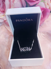 Load image into Gallery viewer, Mom Pandora Necklace Charm Set Italy Silver 925