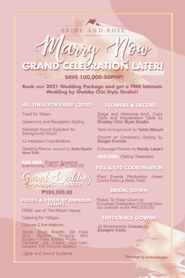 Marry Now, Grand Celebration Later! Wedding Package