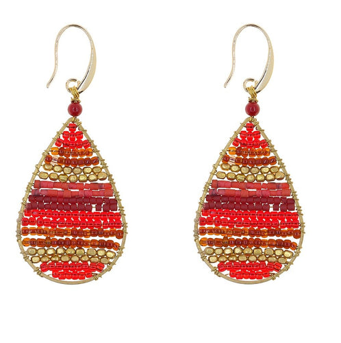 Global Crafts - Earrings: Lauren Cherry - Marquet (J)
