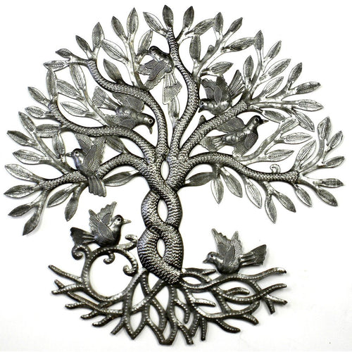 Global Crafts - Entwined Tree of Life Metal Wall Art - Croix des Bouquets