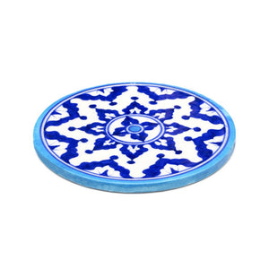 Global Crafts - Blue Pottery Trivet - Indigo - Matr Boomie (Pottery)