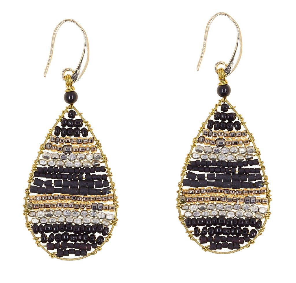 Global Crafts - Earrings: Lauren Midnight - Marquet (J)