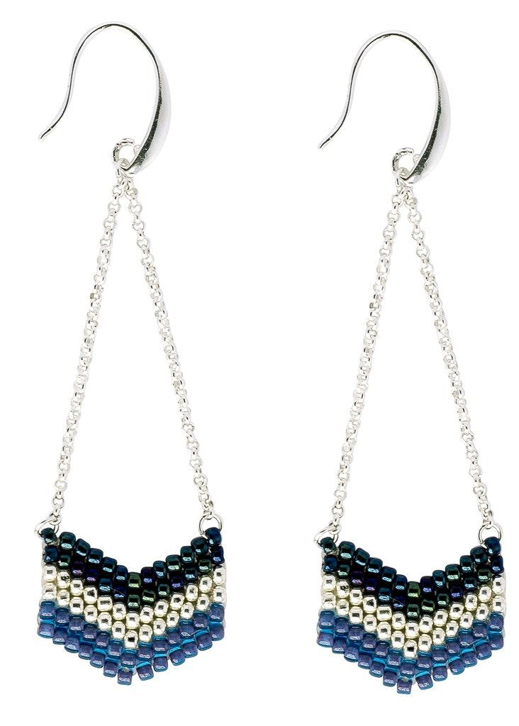 Global Crafts - Earrings: Eve Evening Blue - Marquet (J)