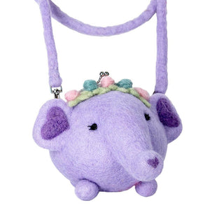 Global Crafts - Felt Purse Emma Elephant - Wild Woolies (P)