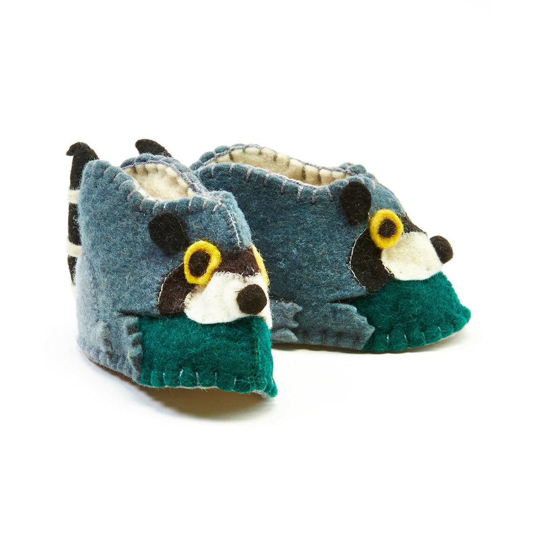 Global Crafts - Raccoon Zooties Baby Booties - Silk Road Bazaar