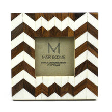 Load image into Gallery viewer, Global Crafts - Rudra Bone and Wood Frame for a 3X3 Photo - Matr Boomie (P)