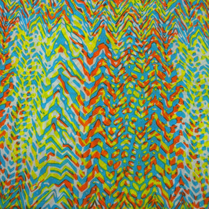 Global Crafts - Bright Abstract Cotton Scarf - Asha Handicrafts