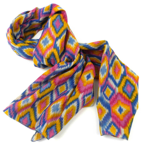Global Crafts - Multicolored Kilim Cotton Scarf - Asha Handicrafts