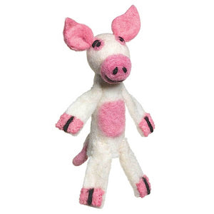 Global Crafts - Woolie Finger Puppet - Pig - Wild Woolies (T)