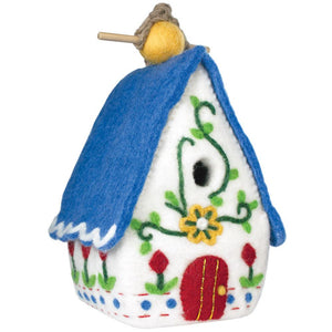 Global Crafts - Felt Heidi Chalet Birdhouse - Wild Woolies