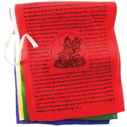 Global Crafts - Prayer Flag: TNP Tara, Medium - Tibet Collection