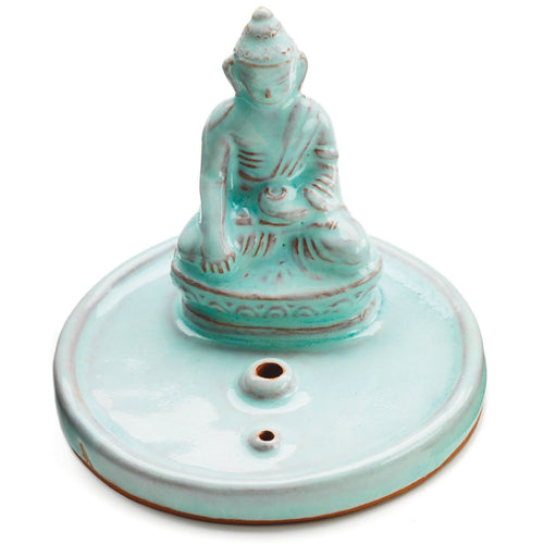 Global Crafts - Incense Burner Celadon Buddha - Tibet Collection