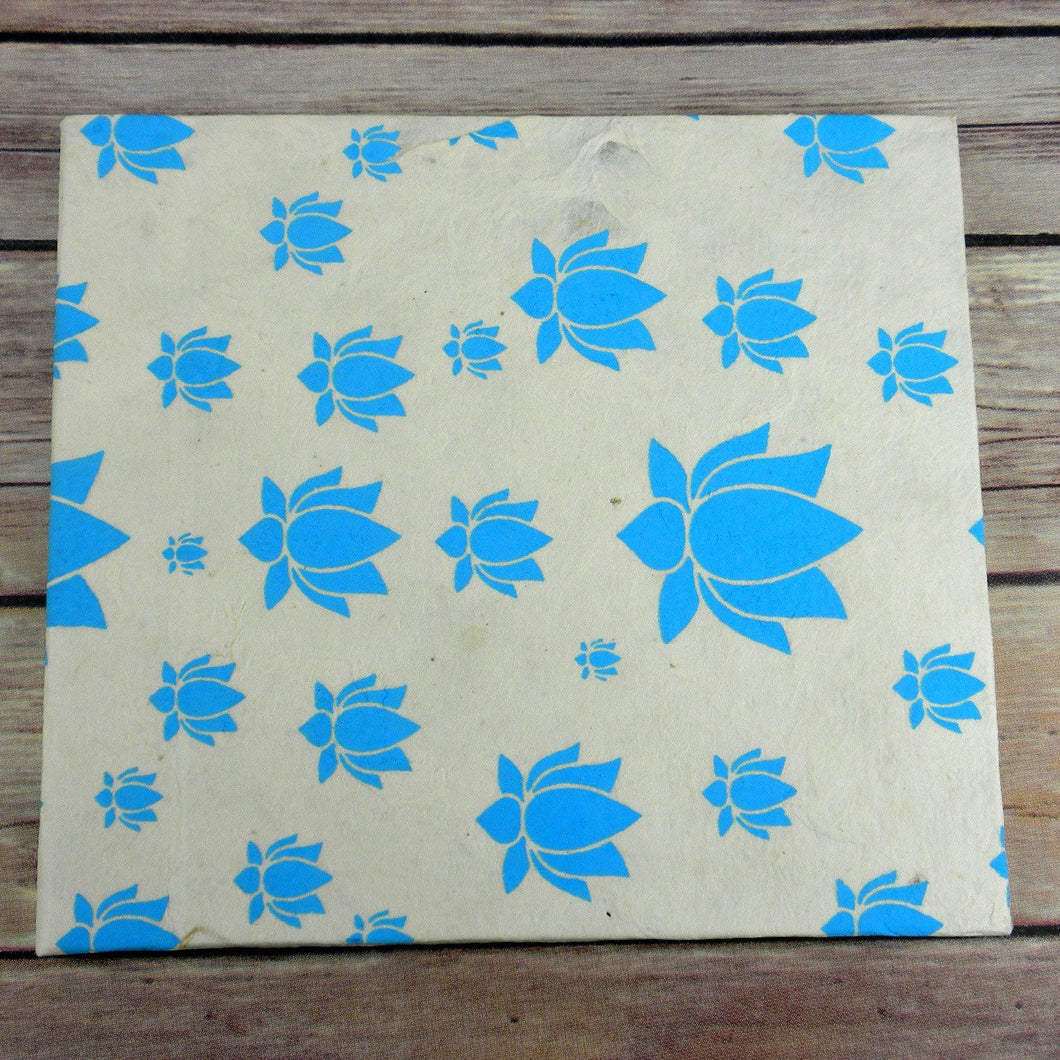 Global Crafts - Lotus Journal, Large Turquoise - Global Groove (S)