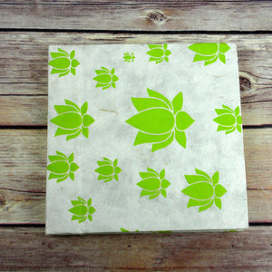 Global Crafts - Lotus Journal, Small Lime - Global Groove (S)