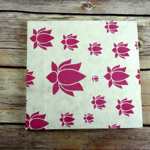 Global Crafts - Lotus Journal, Small Pink - Global Groove (S)
